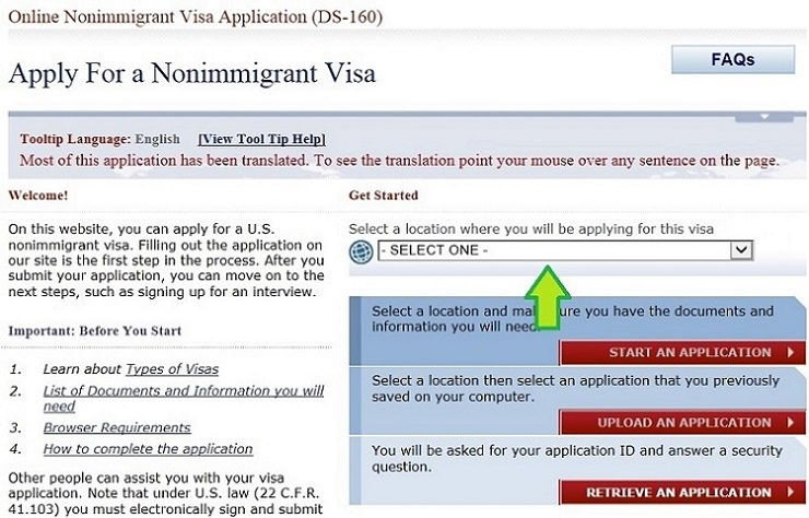 DS-160_pagina-us-gov-2 Sample Ds Application Form Download on application id, for parents india, application form print, filled behalf parents, for stamping india, form travel india,